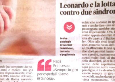 Chieti: Leonardo e la lotta contro due sindromi
