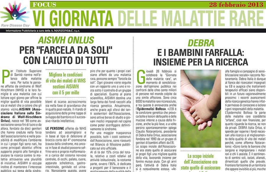 Articolo apparso sul Quotidiano La Repubblica il 25 febbraio 2013